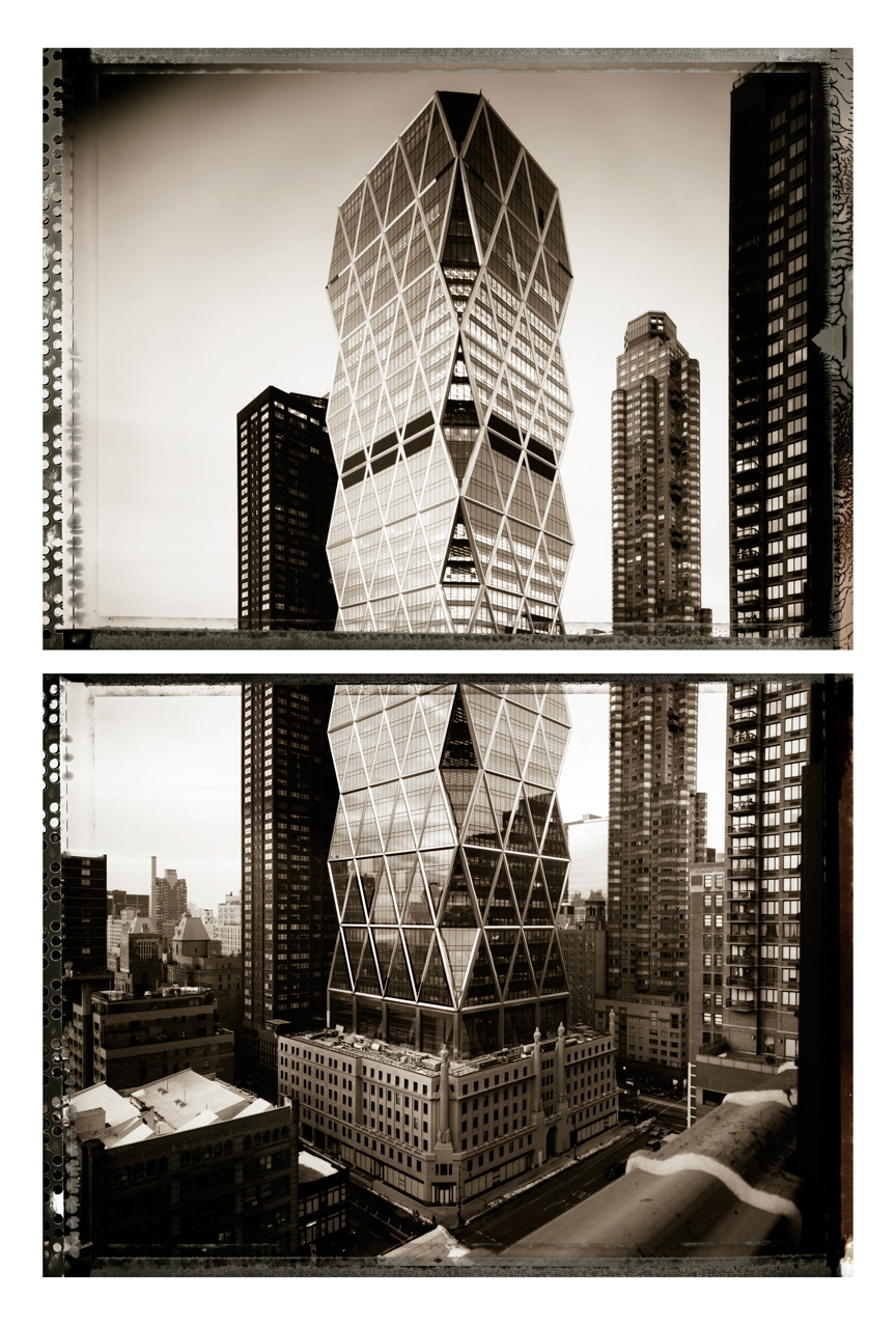 Hearst Tower Dyptich, 2006, Archival Ink Print