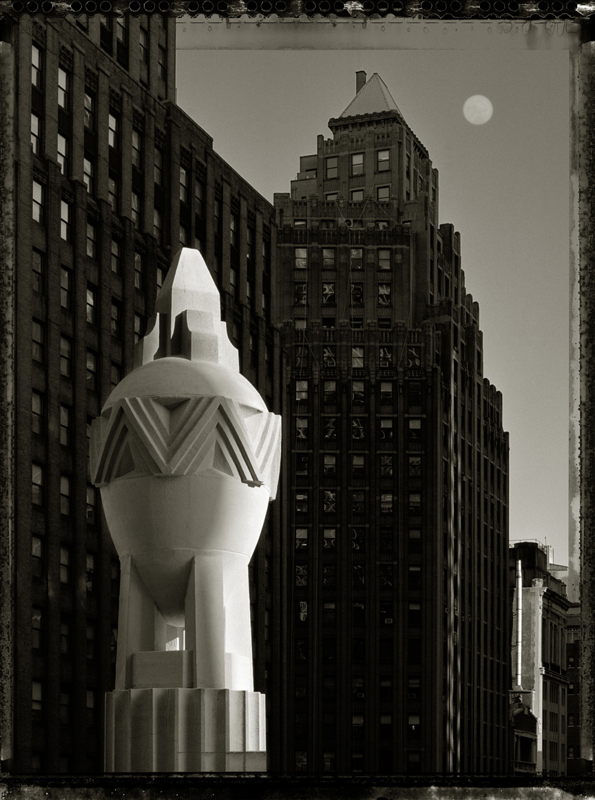 Hearst Tower Finial, 2006, Archival Ink Print